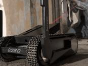 Kleiner kompakter Kampfroboter für dem urbanen Raum