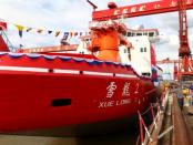 """China - Eisbrecher: """"Das Schiff 1,5 Meter dickes Eis bei Geschwindigkeiten von 2 bis 3 Knoten brechen"""""""