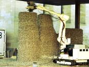 Projekt: Rock Print Pavilion - Ein Pavilion aus Schotter und Schnur