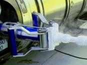 Das Flüssige Erdgas für Lastwagen