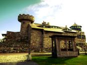 Eine mittelalterliche Burg erbaut im 21. Jahrhundert