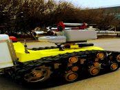 """China: """"Roboter versprühen Desinfektionsmittel an öffentlichen Orten"""""""