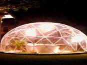 Die Kuppel für das Gewächshaus und den Wintergarten aus dem 3D-Drucker