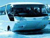 """AmphiCoach: """"Unten Boot, oben Bus, das Ganze für bis zu 50 Passagiere"""""""