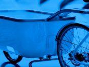 """Fahrradanhänger mit integrierten E-Motor -Biomega Ein: """"Schwere Lasten per Anhänger zu befördern"""""""