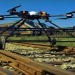 Die schienenfahrbare & fliegende Inspektionsdrohne Staaker BG-300 Railway Drone