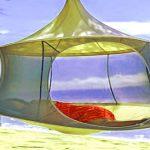 """Treepod Cabana als hängendes Zelt: """"Die Modelle können rasch auf- und abgebaut werden"""""""